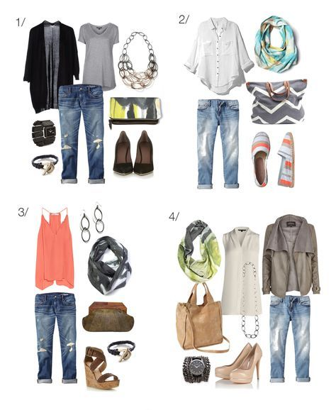 how to wear boyfriend jeans // 8 ways to style your boyfriend jeans via megan auman // click through for outfit details