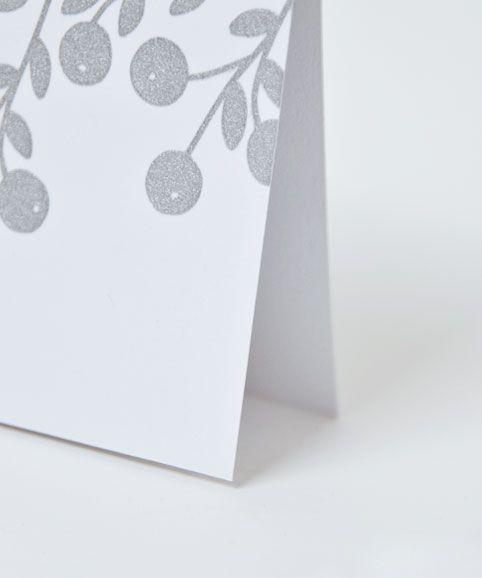 Bonne année - Ouistiti carte vœux, happy new year, argent, serigraphie, carte postale, post card, hand print, print with love, typographie, design graphique, motif