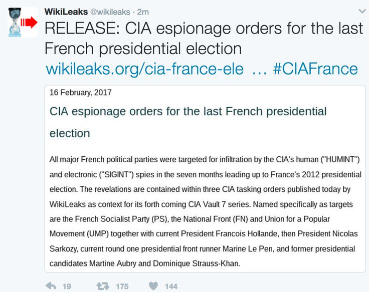 Cia French Election 2012