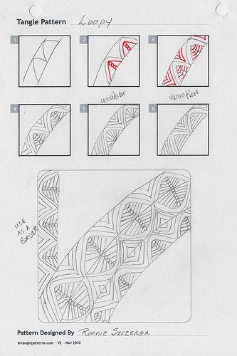 Zentangle Pattern-Loopy