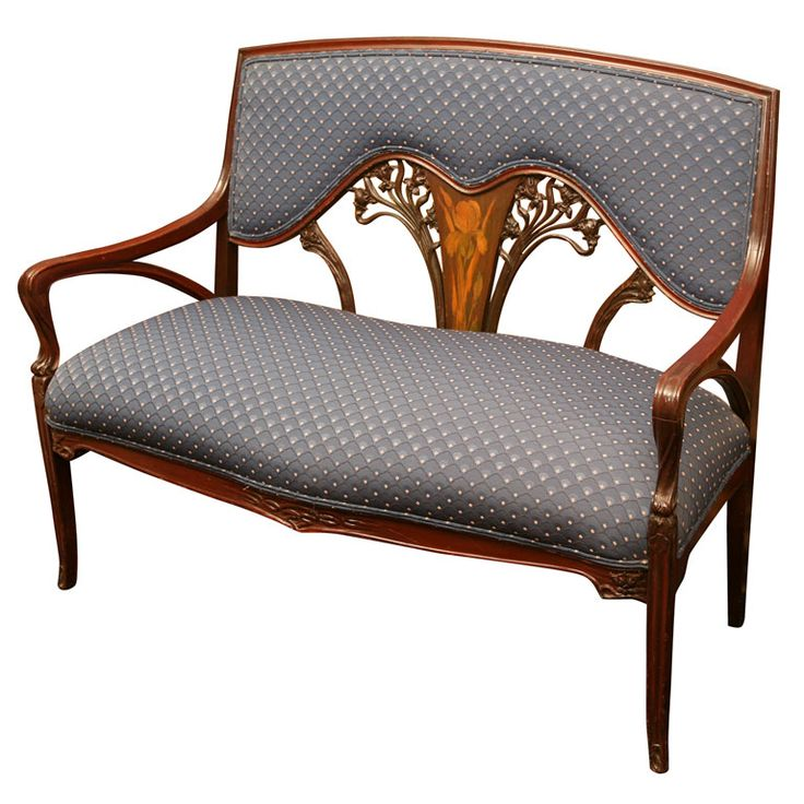 view this item and discover similar sofas for sale at mahogany upholstered setee or couch with graceful legs carved and fruitwood inlays depicting