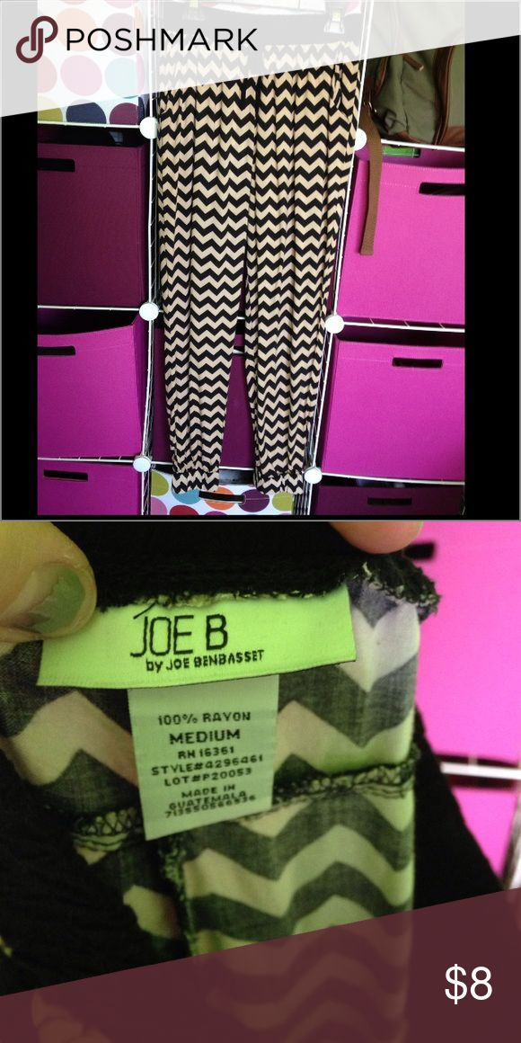 GREAT USED CONDITION ladies joggers GREAT USED CONDITION ladies joggers, tan and black, size medium, and drawstring waist. Joe B Pants Track Pants & Joggers