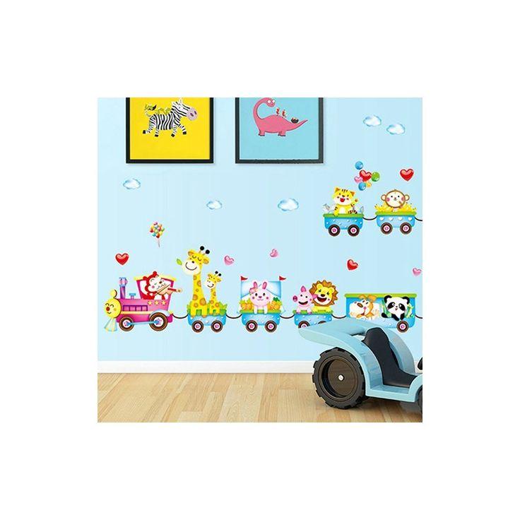 Stickers train, décorez vos murs avec ses animaux originaux.