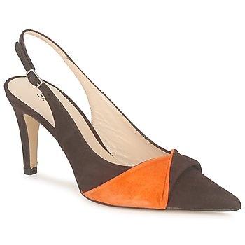 Oranje bruine schoen studiopaloma