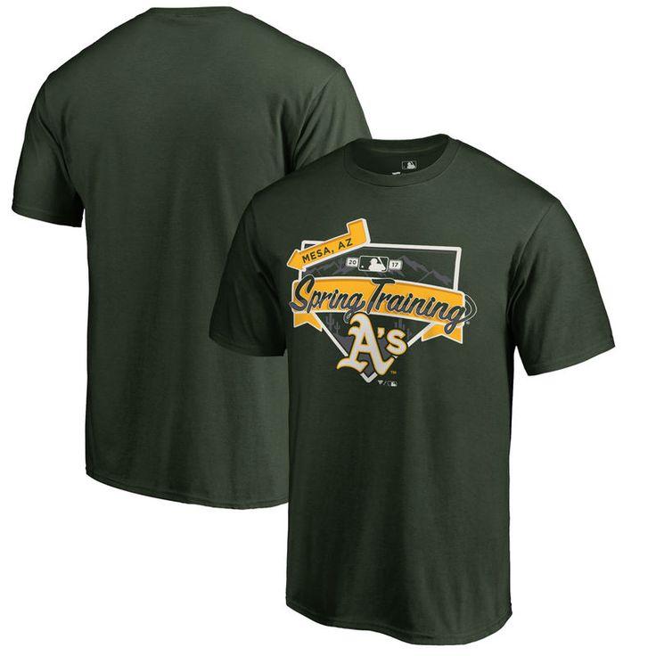 Oakland Athletics Fanatics Branded 2017 MLB Spring Training Team Logo Big & Tall T-Shirt - Hunter Green