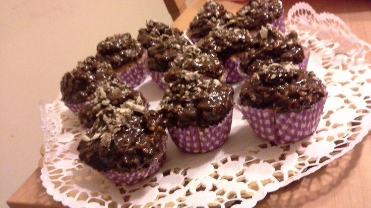 Cupcakes con crema Ferrero Rocher