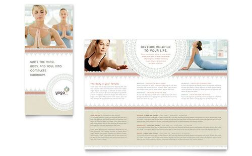 16 best flyer yoga images on pinterest flyers leaflets for Yoga brochure templates