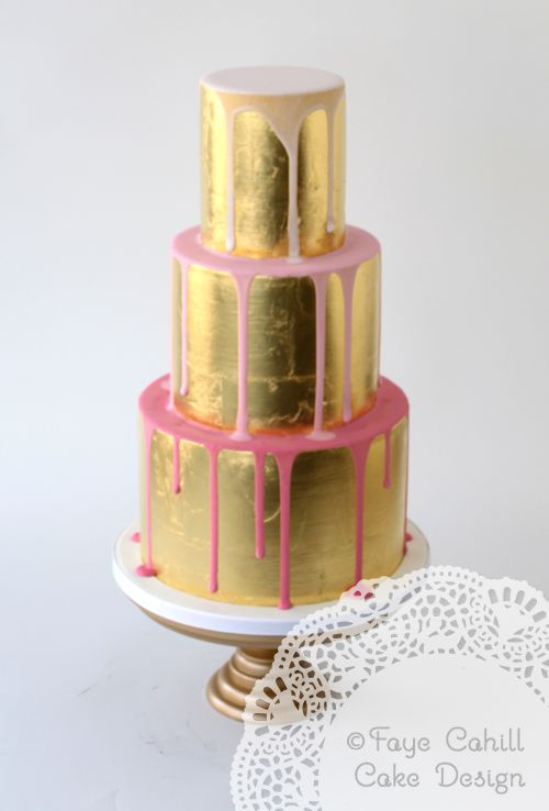 Cake Decorating Gold Leaf : 1000+ images about Faye Cahill Cake Design on Pinterest ...