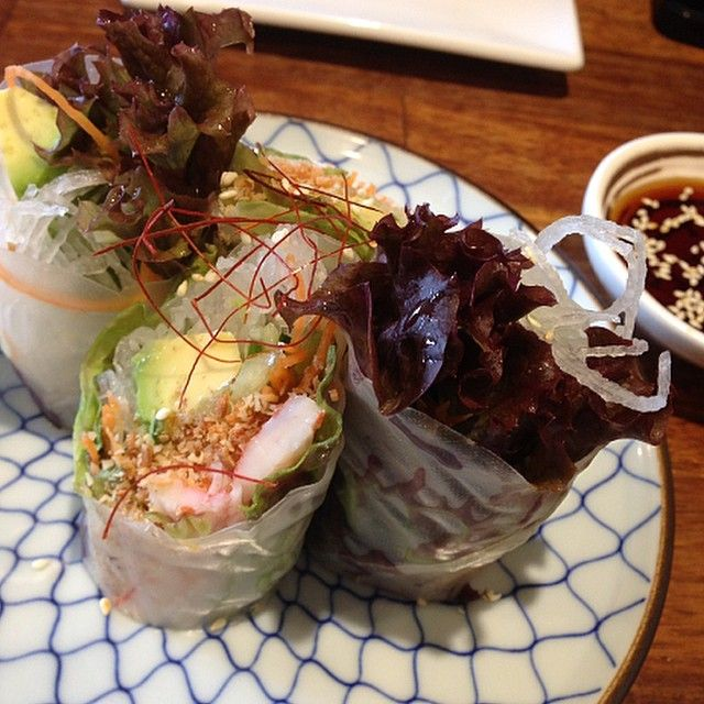 Refreshing Spring Rolls at the best Japanese restaurant in town ⭐️⭐️⭐️⭐️