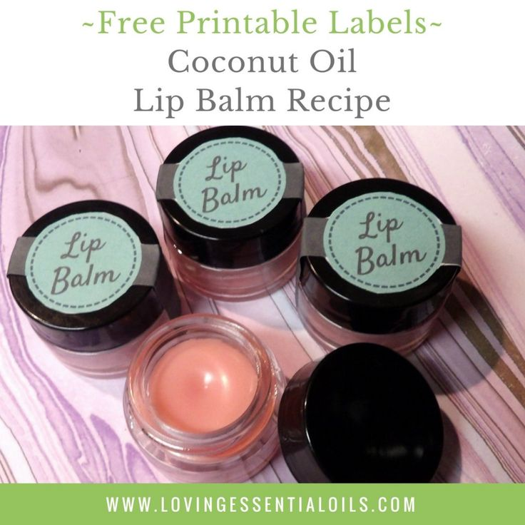 Diy coconut oil lip balm recipe with essential oils free