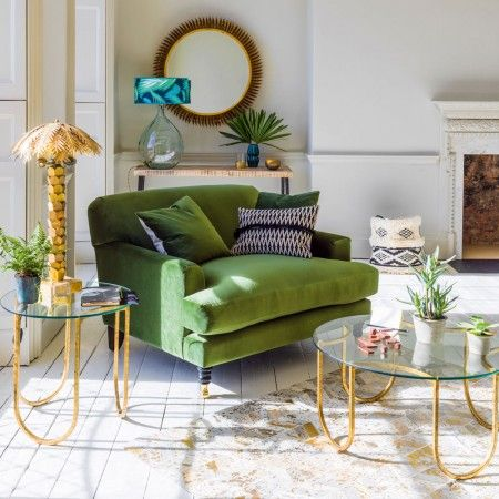 Clio Loveseat | Armchairs | Graham And Green. Green ArmchairSitting  RoomsGlass RoomGreen ... Part 52