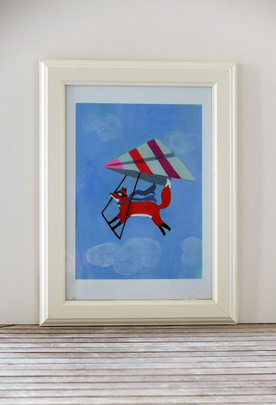 Flying Fox, Art Print of Original Painting