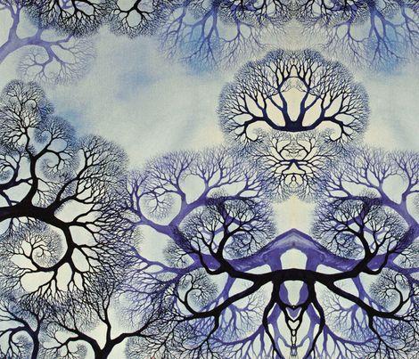 Winter Lace fabric by helenklebesadel on Spoonflower - custom fabric