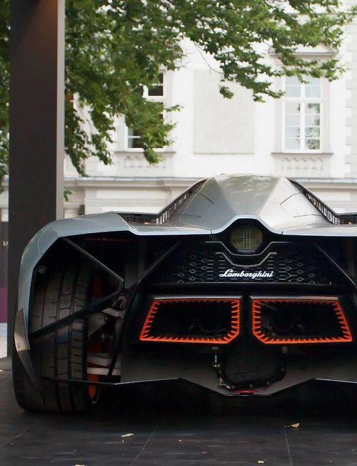 The Lamborghini Egoista is a concept car unveiled by Lamborghini for the company's 50th anniversary