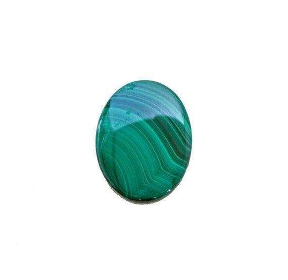 Malachite oval cabochon 82.50 carat by SARAHHUGHESfinegems on Etsy