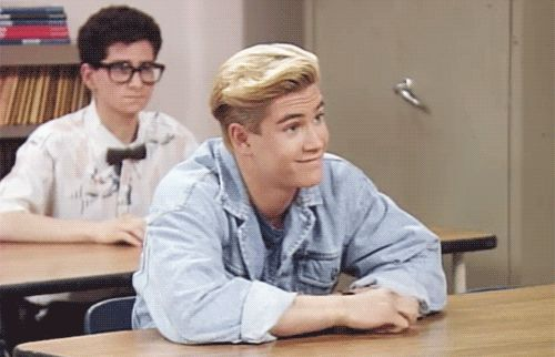 I love the guy in the back | Zack Morris, Saved by the Bell | GIF