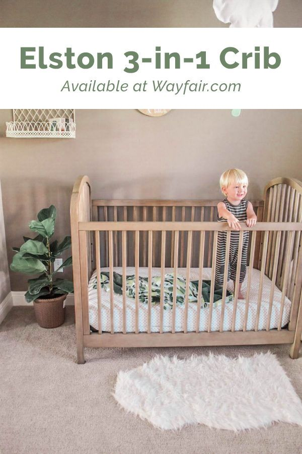 Kolcraft Elston 3 In 1 Convertible Crib In Antique Grey Unique