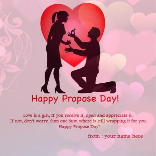 customize name on propose day wishes picture online free. happy propose day wishes image with awesome propose sentence and quotes for whatsapp facebook dp