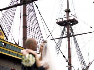 Het Scheepvaartmuseum, Laat uw gasten u ontvangen of uitzwaaien wanneer u per boot arriveert of afmeert op het eigen terras.