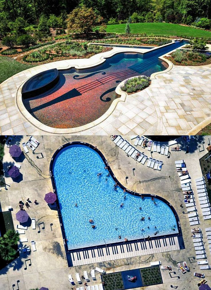 Do you love #music? Then these swimming pools are for you!