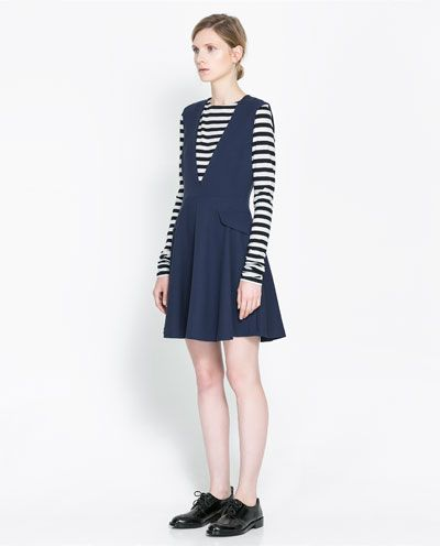 PINAFORE DRESS - Dresses - Woman - New collection | ZARA Portugal