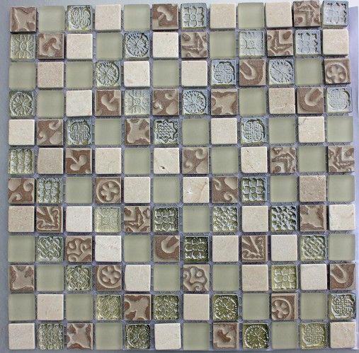 Lux-006 Linen 25x25mm Mosaic Tile