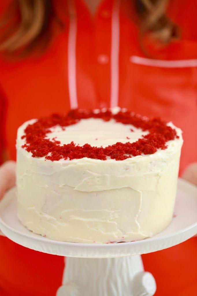 3 Layer Microwave Red Velvet Cake Recipe Cake Recipes Bigger