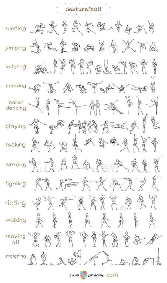 Coolest collection of stick figure action poses ever.