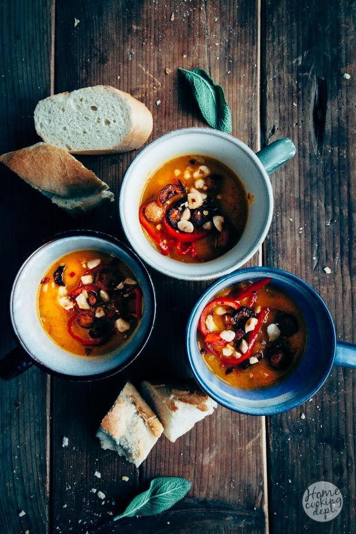 Wortelsoep met paprika en sinaasappelsap