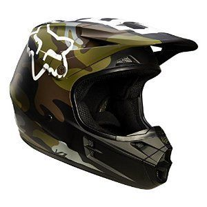 Fox Racing Camo Men's V1 Off-Road Motorcycle Helmet – Green Camo / Medium