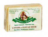 Sapone alla canapa e Olio di Neem. Specifico, purificante, curativo - Per tutti i tipi di pelle. Naturale, emolliente, vegano