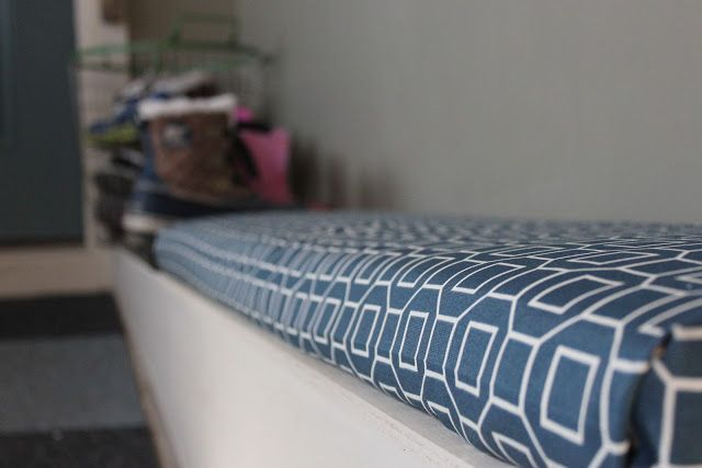 The Logbook: diy bench cushion {no sewing required!}
