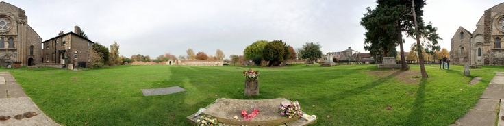 The reputed grave of Harold Godwinson (AKA king Harold II the last King Of The Saxons). It is believe that King Harold was buried under the altar of the original church at Waltham Abbey.