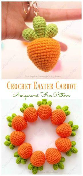 Crochet Easter Carrot Amigurumi Free Pattern