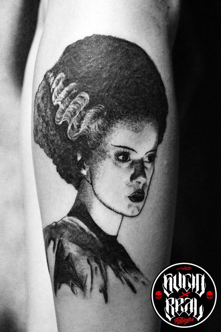 La novia de Frankenstein para Victoria Abril en el estudio Sucio X Real Tatuajes (Gualeguaychú - Entre Ríos)