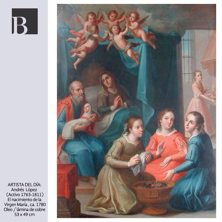 ¿Sabías que esta interpretación del nacimiento de la Virgen María muestra elementos cotidianos del México colonial? En esta escena los personajes están vestidos a la usanza de la Nueva España y se aprecia al fondo una cocina de la época.