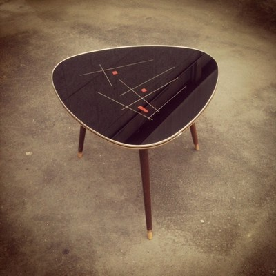 French tripod table 50's