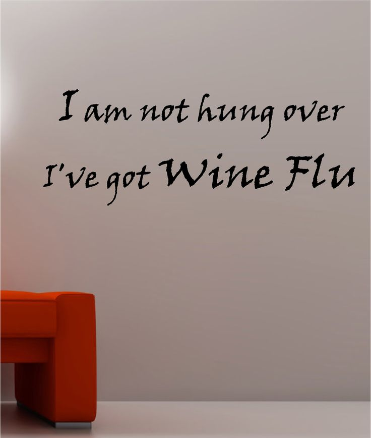 "wine quotes | WINE FLU"" Kitchen bedroom wine wall art sticker vinyl DECAL"