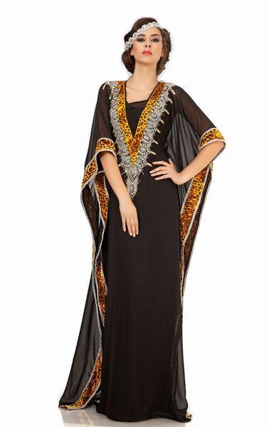 Picture of Divine Black Arabic Kaftan Mexi Dress