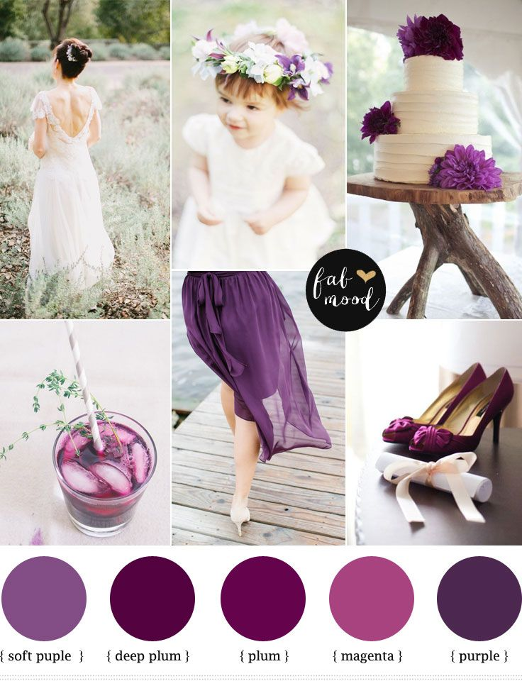 Plum Purple Wedding | http://www.fabmood.com/plum-purple-wedding-colours/