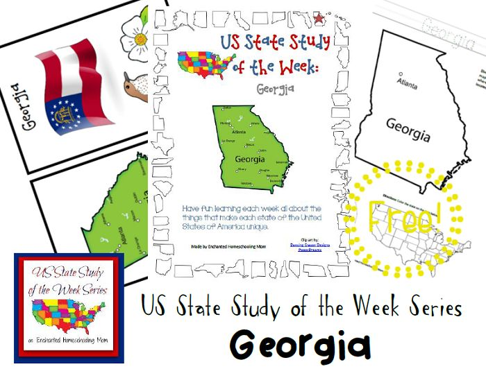 US State Study of the Week Weekly Series FREE Georgia Pack #statestudy #freeprintable #homeschool