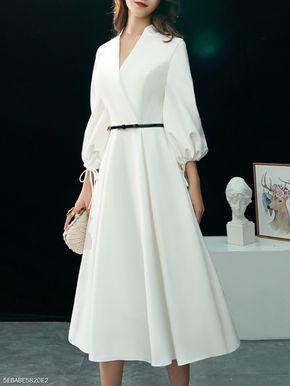 White Prom dress , charming pron dress
