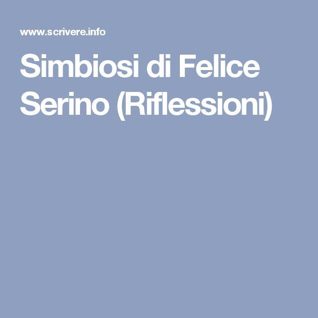 Simbiosi di Felice Serino (Riflessioni)