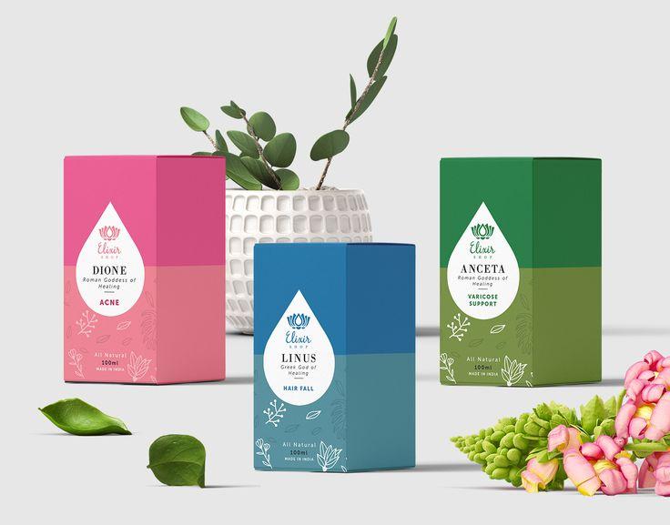 Elixir Shop - Essential Blends Branding on Packaging of the World - Creative Package Design Gallery