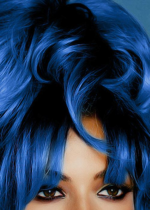 Beyonce pastel blue hair