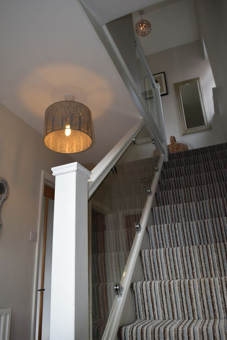 Glass stair balustrade in St Albans - After (6/7)