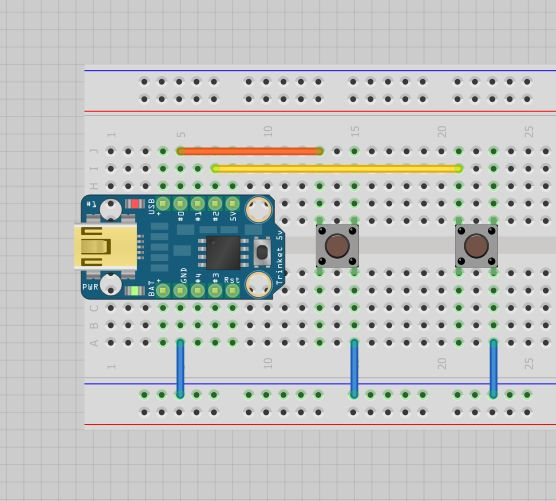 Turn arduino trinket into a custom usb input device like