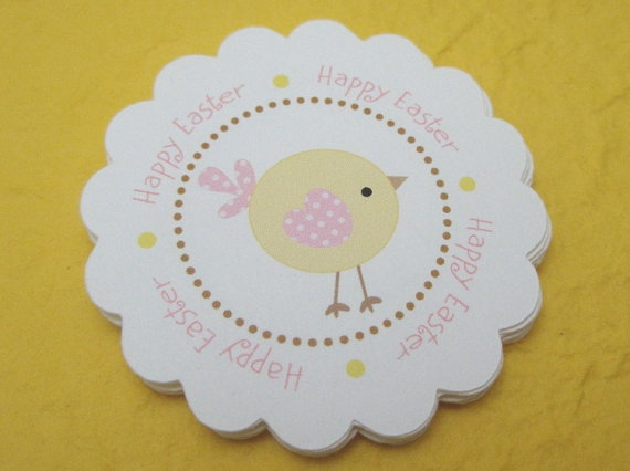 Easter favor tags   set of 12 by Just Scraps by JustScrapsNThings, $4.00