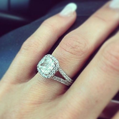 cushion cut halo split shank diamond engagement ring gia cert ebay
