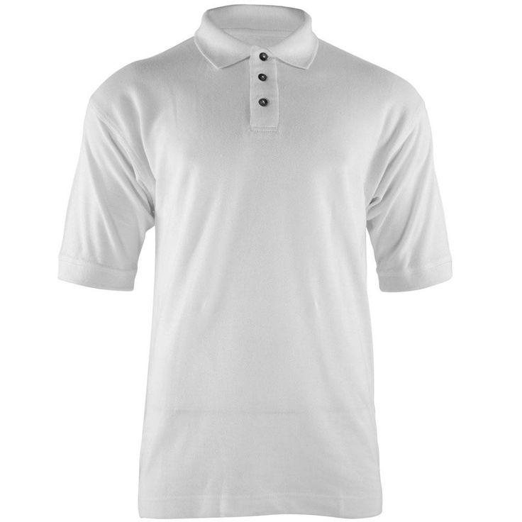 White Men's Polo T-Shirt